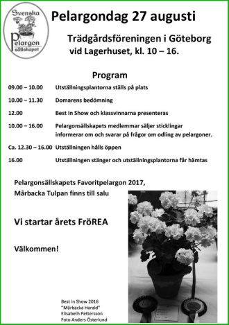 Pelargondagens program
